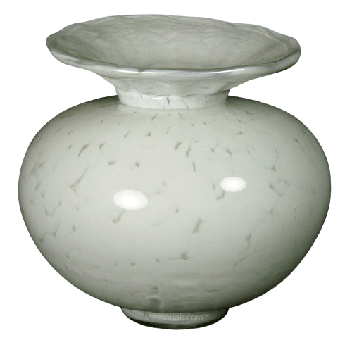 Milano Verdigris Glass Cremation Urn