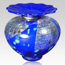 Milano Bluetonia Glass Cremation Urn