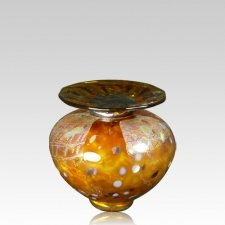 Milano Caramel Glass Keepsake Urn