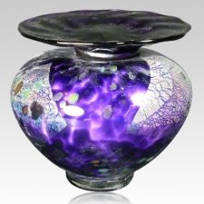 Venetia Purple Glass Pet Urn