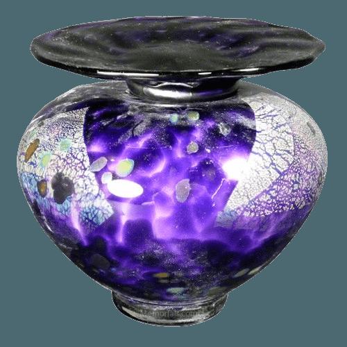 Milano Amethyst Glass Cremation Urn