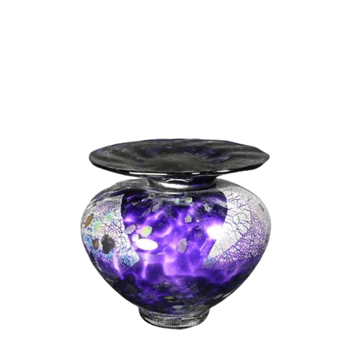 Milano Amethyst Glass Keepsake Urn