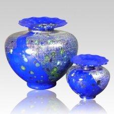 Milano Bluetonia Glass Cremation Urns