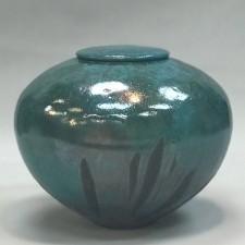 Vert Raku Cremation Urn