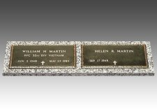 Veteran Bronze Grave Marker For Two