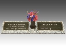 Veteran Bronze Grave Marker For Two II
