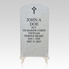 Veteran Grey Headstone Plaque