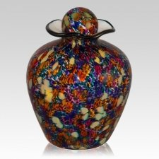 Vibrant Glass Cremation Urn