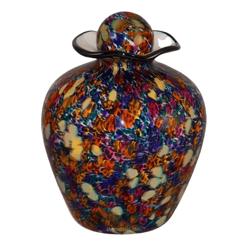 Vibrant Glass Cremation Urn