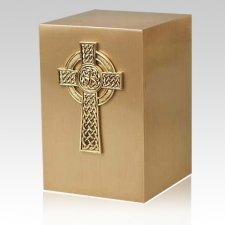 Viking Cross Bronze Cremation Urn