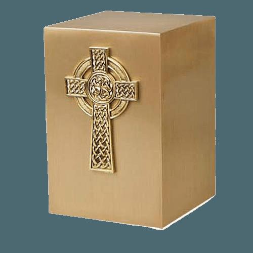 Viking Cross Bronze Cremation Urn