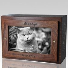 Vine Photo Pet Cremation Urn