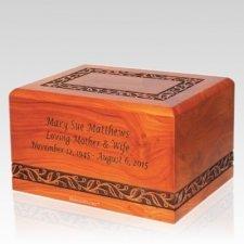 Vineyard Wood Cremation Urn
