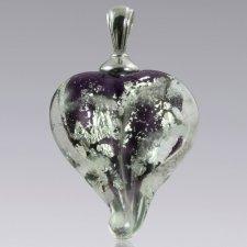 Violet & Silver Love Cremation Ash Pendant