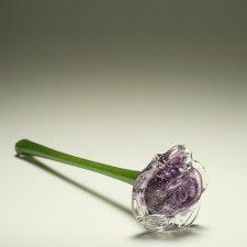 Violet Blossom Glass Cremation Keepsake