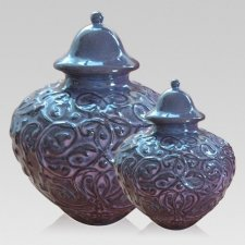Violet Ceramic Cremation Urns
