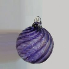 Violet Glass Cremation Ornament