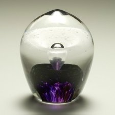 Violet Geyser Glass Cremation Keepsakes