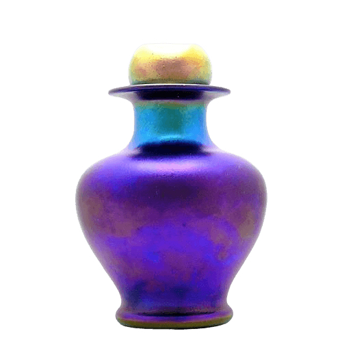 Violet Glass Cremation Urn
