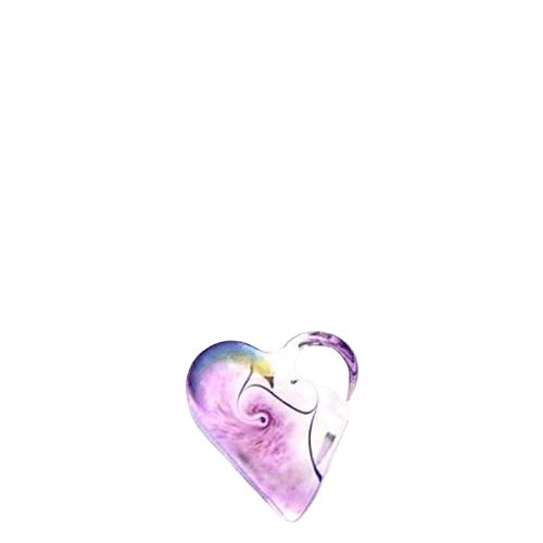 Violet Glass Heart Keepsake