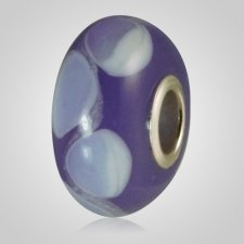 Violet Harmony Cremation Ash Bead