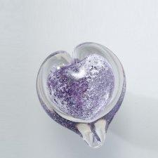 Violet Heart Small Glass Cremation Keepsake