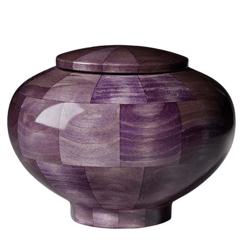 Violet Medium Wood Urn