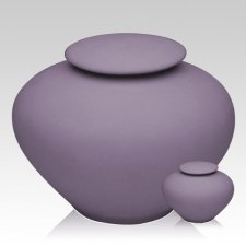 Violet Ray Porcelain Clay Cremation Urns