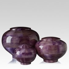 Violet Wood Cremation Urns