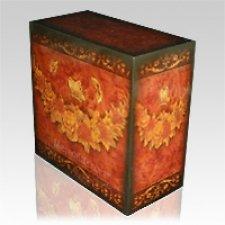 Virgil Floral Cremation Urn