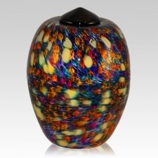 Vivid Glass Cremation Urn