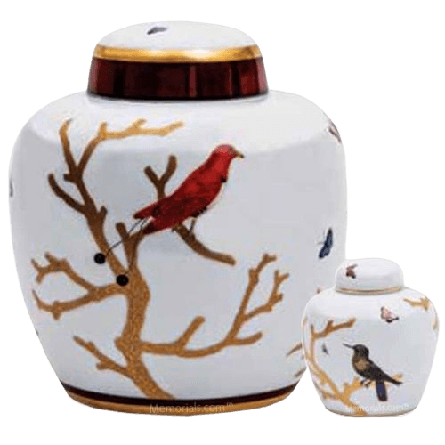 Volant Porcelain Cremation Urns
