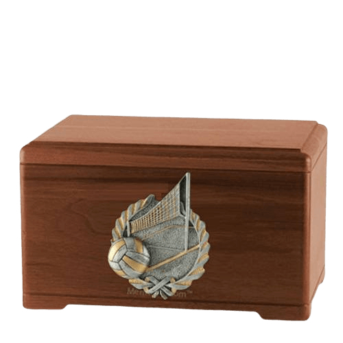 Volleyball Fan Walnut Cremation Urn