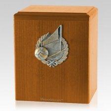 Volleyball Oak Cremation Urn