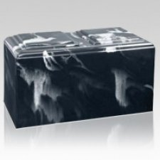 Black Marble Companion Cremation Urn