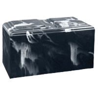 Black Marble Companion Cremation Urn