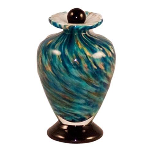 Vortex Glass Pet Keepsake Urn