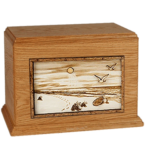 Walk On The Beach Mahogany Companion Urn