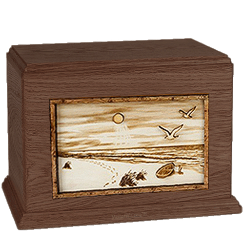 Walk On The Beach Walnut Companion Urn