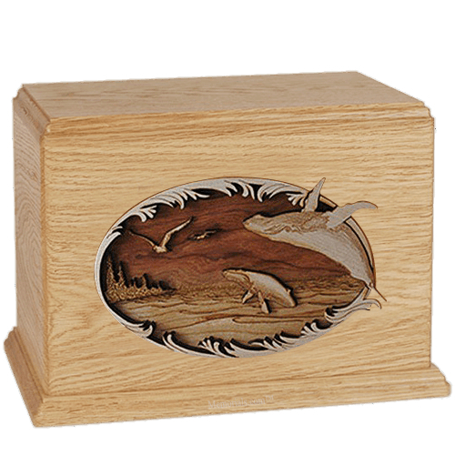 Whales Maple Companion Urn