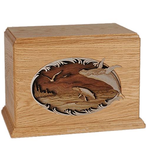 Whales Oak Companion Urn
