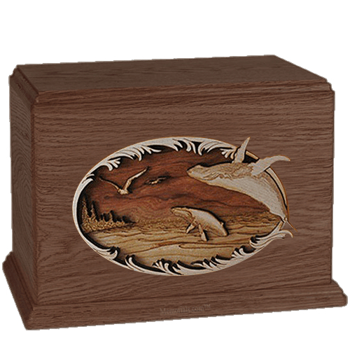 Whales Walnut Companion Urn