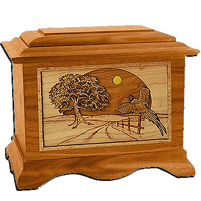 Winding Road Mahogany Cremation Urn For Two