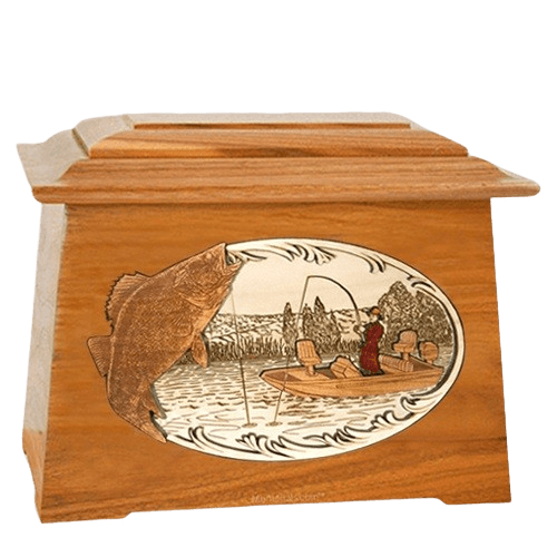 Walleye Fishing Mahogany Aristocrat Cremation Urn