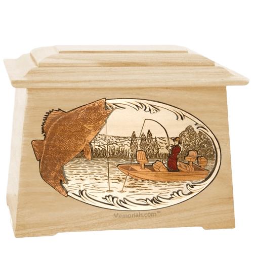 Walleye Fishing Maple Aristocrat Cremation Urn
