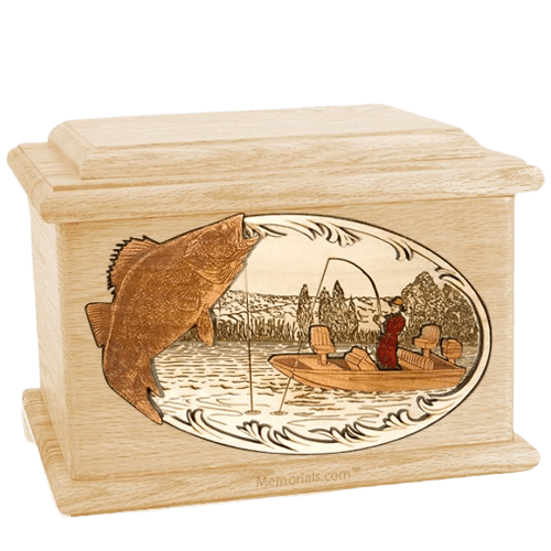 Walleye Fishing Maple Memory Chest Cremation Urn