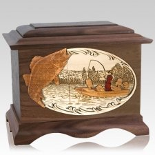 Walleye Fishing Wood Cremation Urns