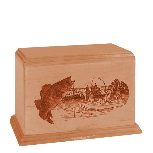 Walleye Individual Cherry Wood Urn