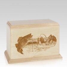 Walleye Individual Maple Wood Urn