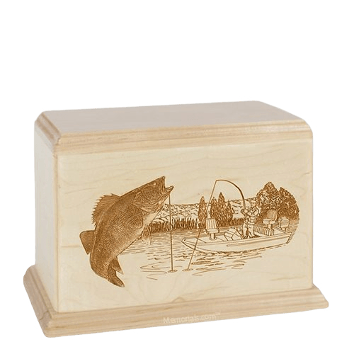 Walleye Individual Maple Wood Urn
